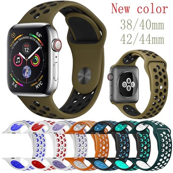 38 color Men Women watch band for Apple Watch strap Nike 38mm 40mm 42mm 44mm watch Strap for Apple Watch Band Series 4 3 2 1 цвета apple watch 4