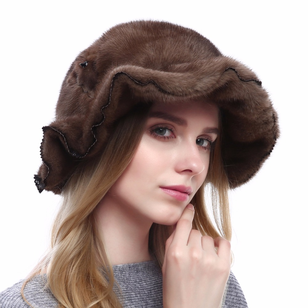 Winter Women's Fur Beanies Hat Knitted Nature Mink Skullies Casual Hats Real Mink Fur Solid Color High Quality Ski Gorros Cap цены онлайн