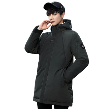 Fashion Long Parka Winter Down Jacket Men Fashion 2019 Hooded Thick White Duck Down Warm Clothes Male Long Mens Coats Parkas