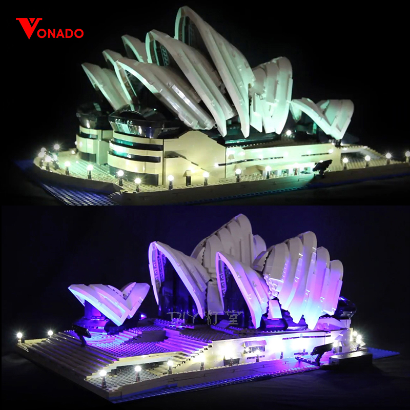 LED light up kit for lego 10234 Compatible 17003 City Series Sydney Opera House building bricks (only light with Battery box)LED light up kit for lego 10234 Compatible 17003 City Series Sydney Opera House building bricks (only light with Battery box)