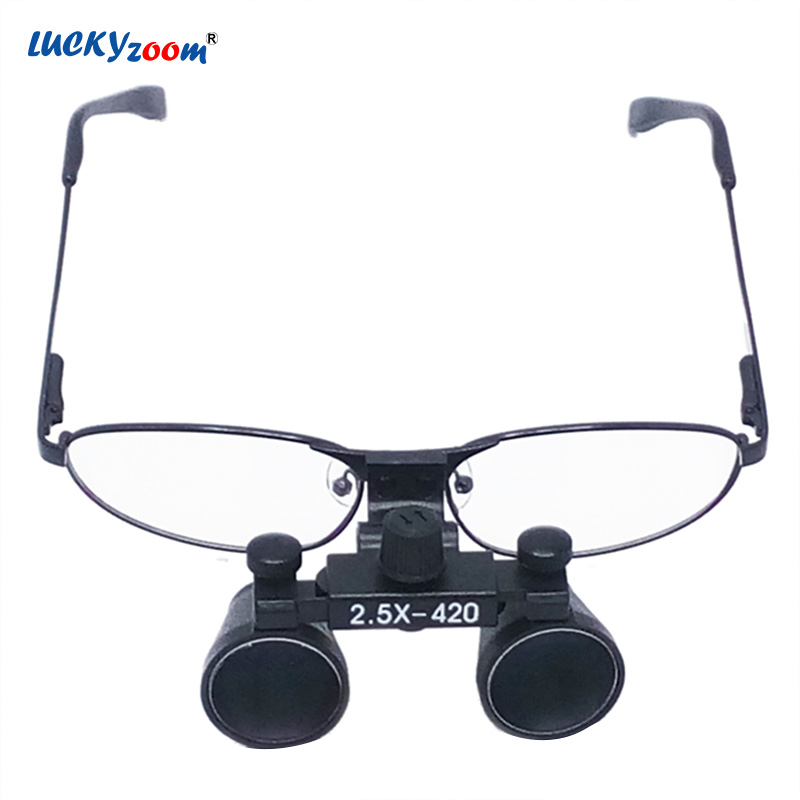 2.5X Binocular Surgical Loupes Dental Glasses Magnifier Optical Glasses Clinical Dentist Medical Equipment Magnifying Glass Lupa