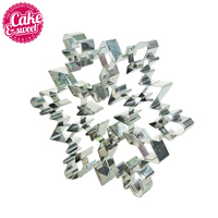 1pc Stainless Steel Snowflake Cookie Cutter 3D Metal Fondant Biscuit Pastry Baking Mold DIY Cake Tools