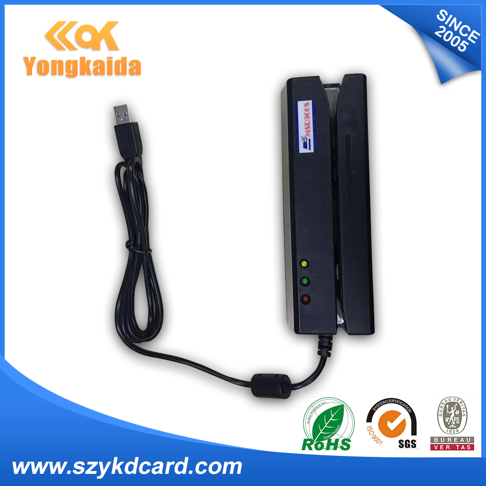 YongKaiDa Reads ISO7811 USB MSR900 magnetic stripe write reader for access control system
