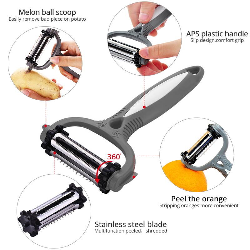 Kitchen Accessories Potato Peeler Multifunctional 360 Degree Rotary Vegetable Peeler Cutter Melon Planer Grater Kitchen Gadget in Graters from Home Garden