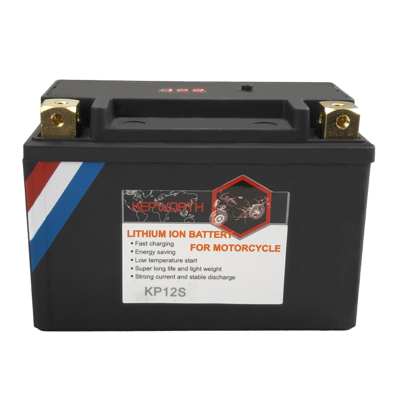 Motorbike <font><b>LiFePO4</b></font> Battery <font><b>12V</b></font> <font><b>10Ah</b></font> 12Ah 14Ah CCA 420A 450A 480A KP10S KP12S KP14S Motorcycle Battery with BMS Voltage protection image