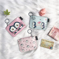 20pcs/lot Cartoon New Coin Purse Multi function Card Holder Simple Penguin Pattern Coin Purse Women's Wallet