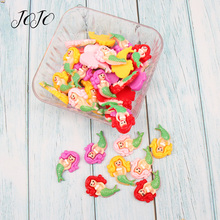 JOJO BOWS 10pcs DIY Craft Supplies Mermaid Planar Flatback Resin Patches Accessories Phone Case Stickers Hair Bows Materials