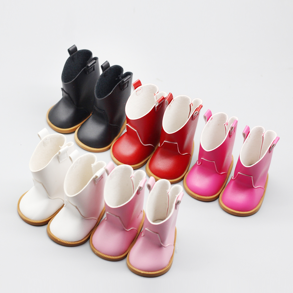 Pink Red Shiny Boots Shoes For 43cm Baby Girl 18