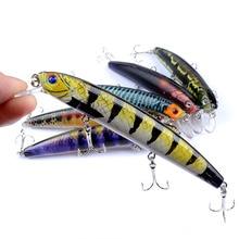 Minnow Fishing 6 color Hard Lure 12.5cm/15.9g Color painting treble hooks 3D bionic eye Artificial bait outdoor plastic new lure