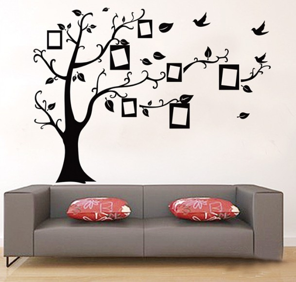 photo frame tree wall stickers guest room self adhesive removable