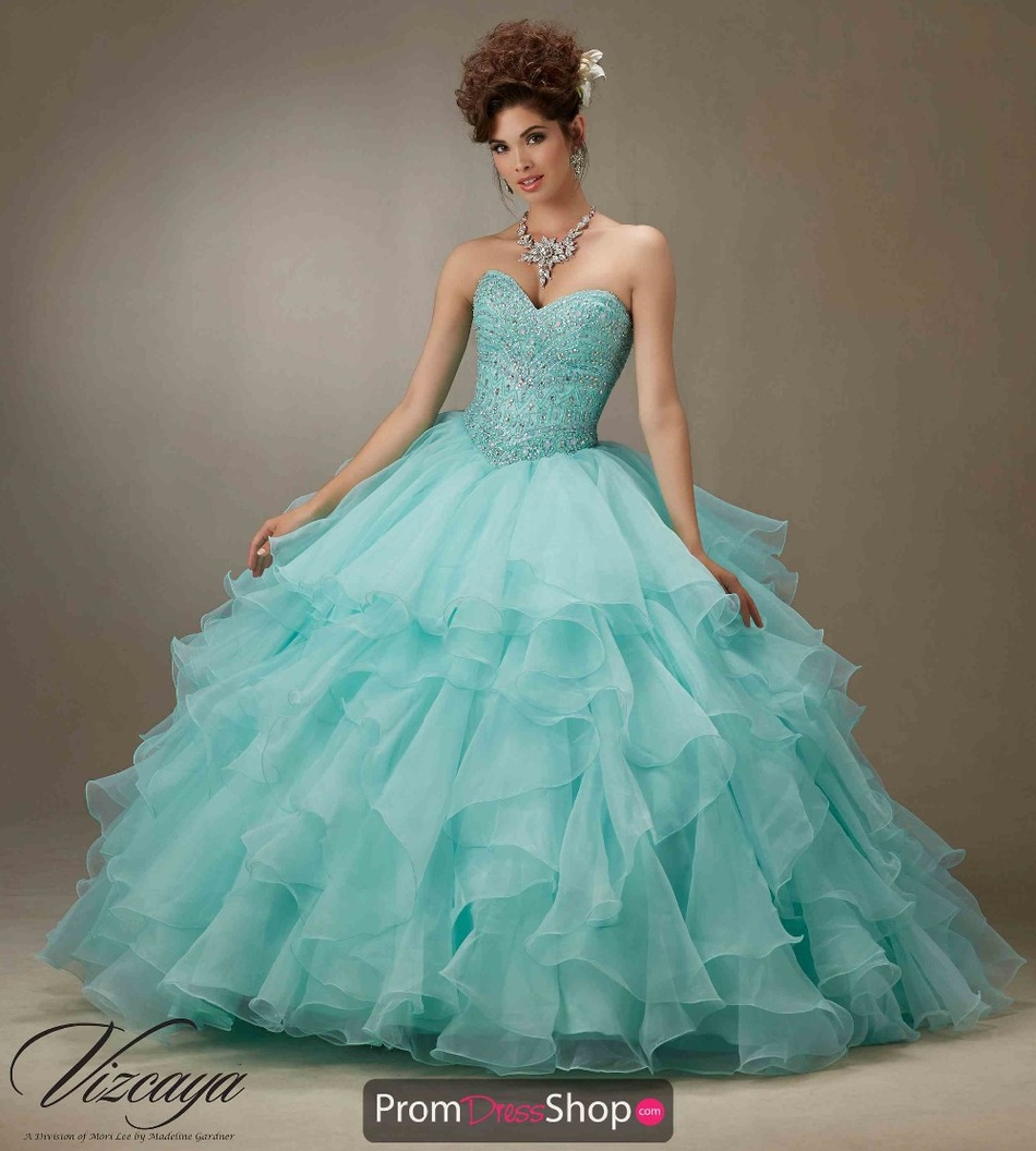 Azul Turquesa Vestido De Quinceanera Bata De Pelota Novia Cristales Elegantes Niñas 15 Años Para 16 Swee 16 Baile