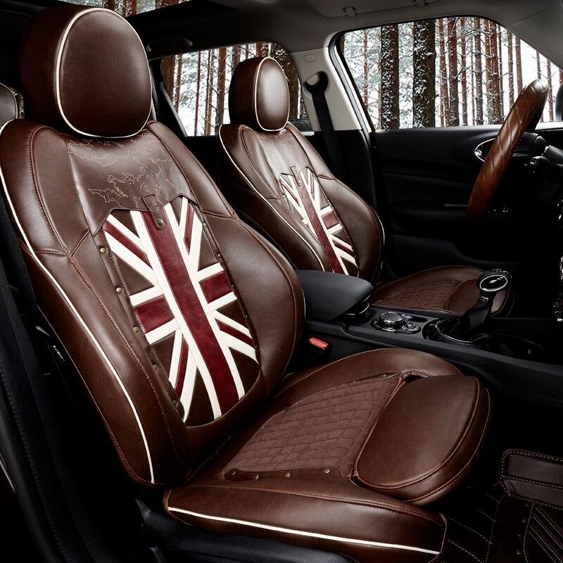 Seggiolino auto Copertura di Cuoio Accessori Interni Decorazione Sedile Protector Cover Per Mini Cooper Countryman F60 Accessori Auto