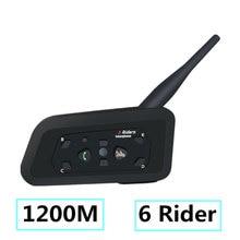 2018 Intercoms Bluetooth мотоцикл коммуникатор шлем гарнитура Interphone для 6 всадников мотоцикл домофон мотоциклы гарнитура