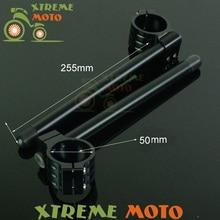 CNC Aluminium 50 MM Tauchrohr Einstellbarer Lenker Stummel Clip-on Für Ducati Monster 696 1100 S 695 S4R S2R 620 1000 800 900 750