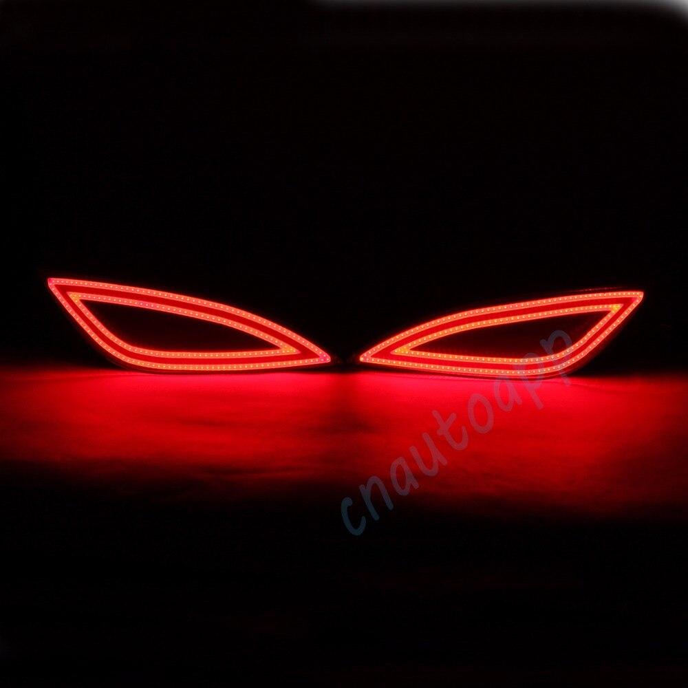 LED Rear Bumper Warning Lights Car Brake Lamp COB Running Light For Hyundai IX35 (One Pair)