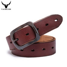 8014cc41b60 Retro hombres cinturón 100% Top primera capa Cuero auténtico cinturón de  correa de cuero de grano completo hueco Pasadores hebil.