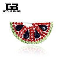Fancy Design Rhinsetone Watermelon Brooch Jewelry