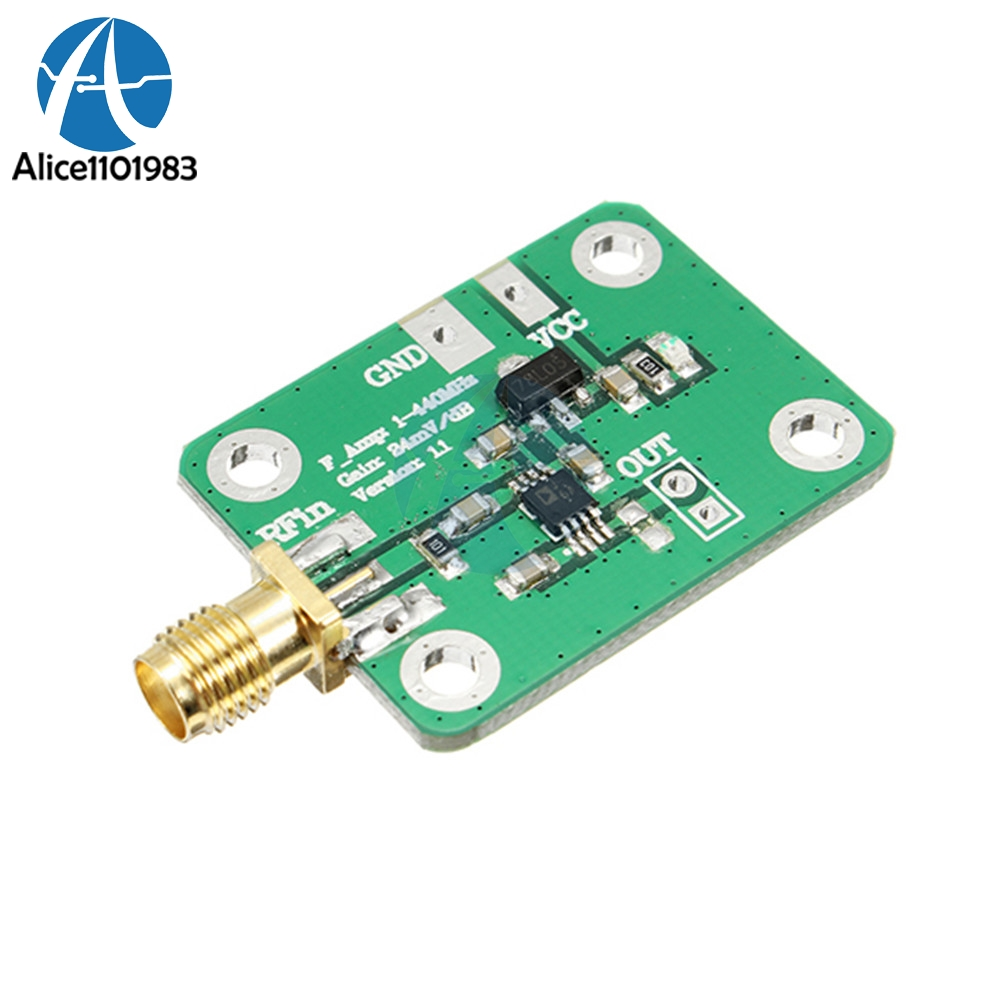 0.1-440 MHz AD8310 RSSI High Speed High Frequency RF Output Log Detector Power Meter Board Demodulator Module 7-15V 12mA0.1-440 MHz AD8310 RSSI High Speed High Frequency RF Output Log Detector Power Meter Board Demodulator Module 7-15V 12mA