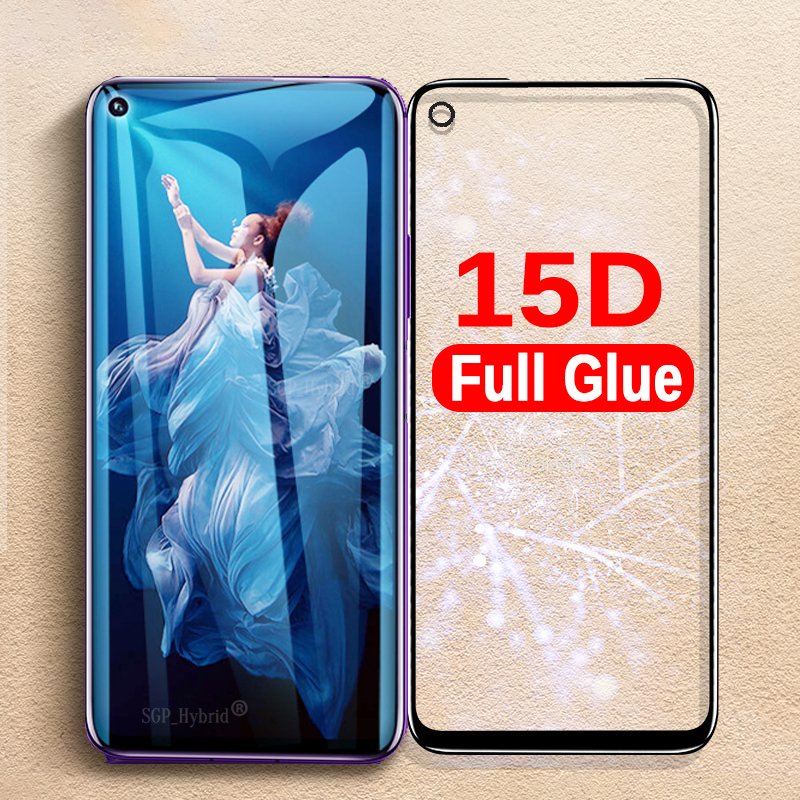 15D Full Glue Protective Glass For Huawei Honor 20 Pro Tempered Glass Screen Protector Safety Film On Honer 20 Honor20 Pro Glass
