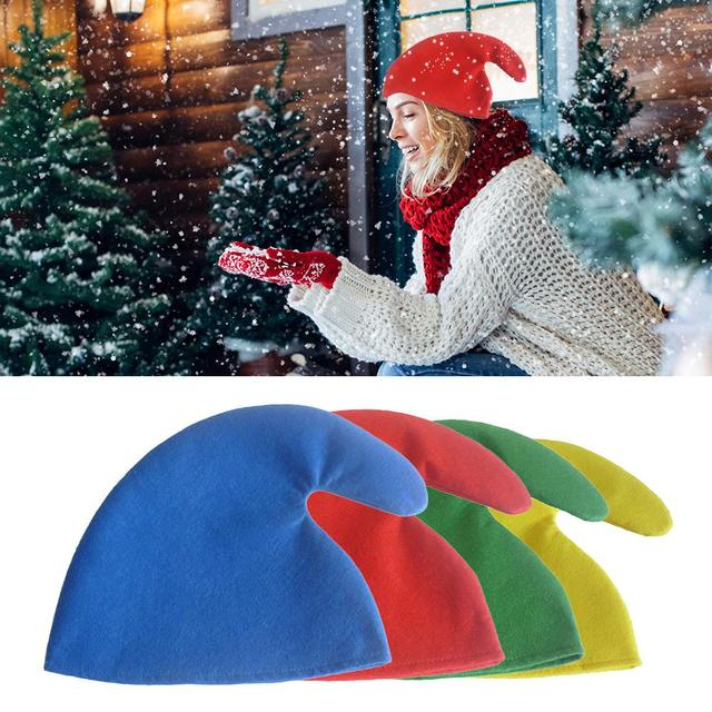 d0a4b88ad8d12 Christmas Hat Elves Hat Show Props Adults and Children Colorful Hats For  Halloween Xmas Party Decoration