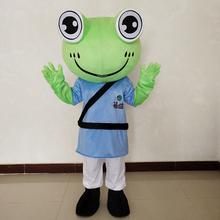 Frog Mascot Costume Cartoon Character Plush Costumes for Christmas Halloween Birthday Party Adult Suit Advertising Dress