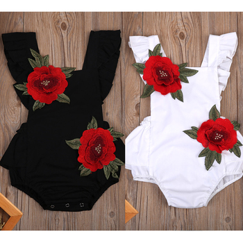 Newborn Baby Girls Sleeveless Jumpsuit Floral Romper Outfits baby girl clothes bodysuit