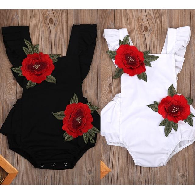 תינוק בן יומו בנות תלבושות Romper סרבל פרחוני ללא שרוולים חליפת קיץ בגד גוף בגדי תינוקת בריטניה