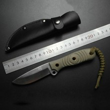 63HRC Hardness Fixed Tactical Knife D32 Stainless Steel Blade G10 Handle Outdoor Survival Tool for Self-defense Camping Hunting