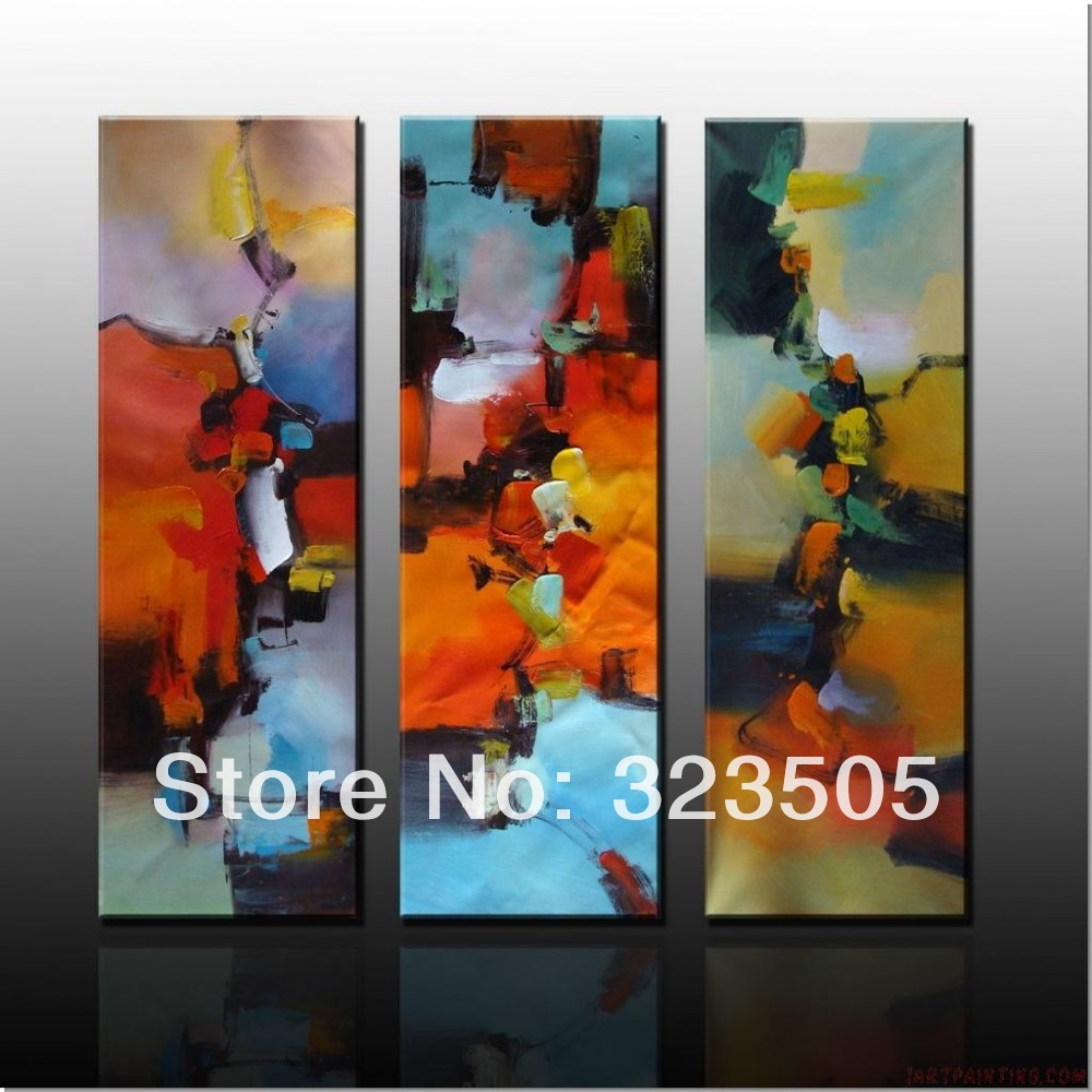 3 panel modern abstract canvas wall art handmade font b Knife b font art decorative oil