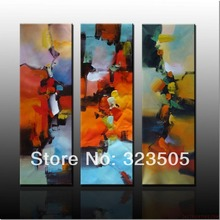 3 panel modern abstract canvas wall art handmade Knife art decorative oil painting on canvas for home decoration living room