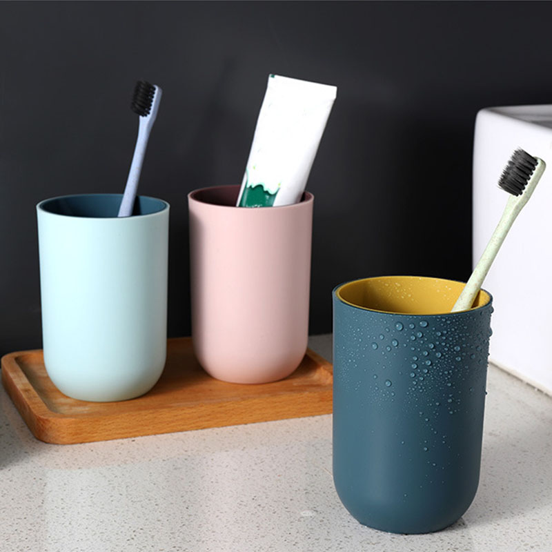 Wash Cups Washing Tooth Cup Multifunction Tooth Mug Simple Design 350ML Brush Holder PP Material Home Bathroom Accessories