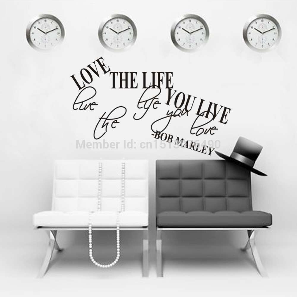 bob marley quotes picture more detailed picture about bob marley bob marley quote wall decal decor love life words large nice sticker text quote