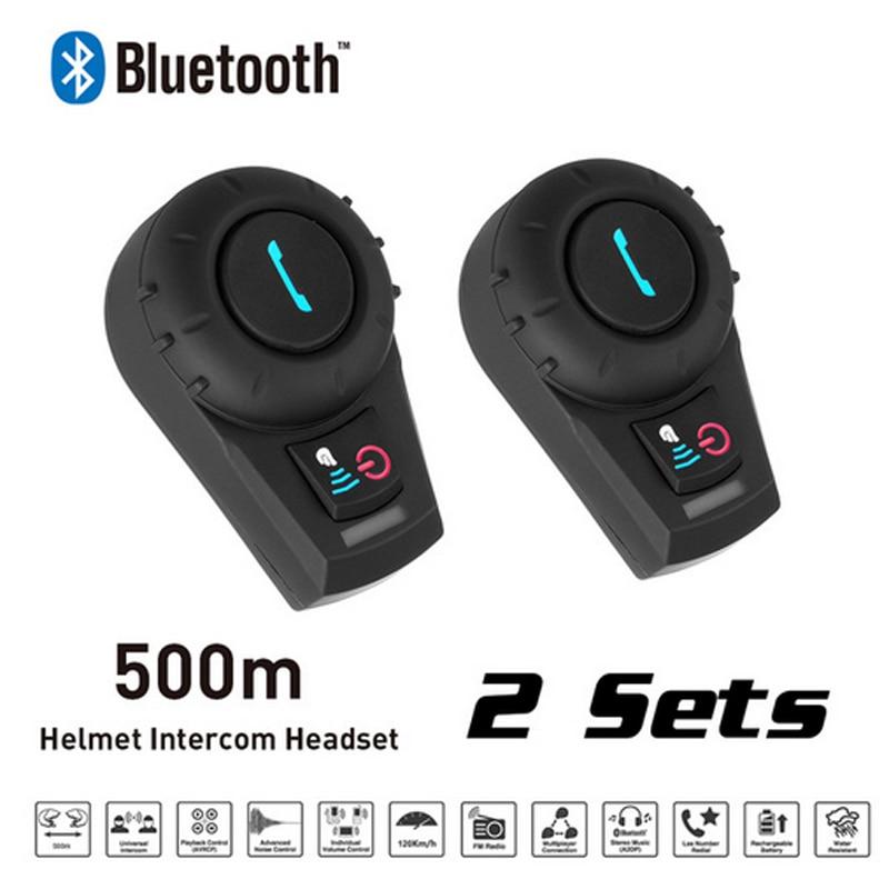 2PCSFreedcon FDC-01VB Motorcycle BT Interphone Helmet Intercom Headset Bluetooth Speaker With MIC FM Radio For Motorcycle Helmet