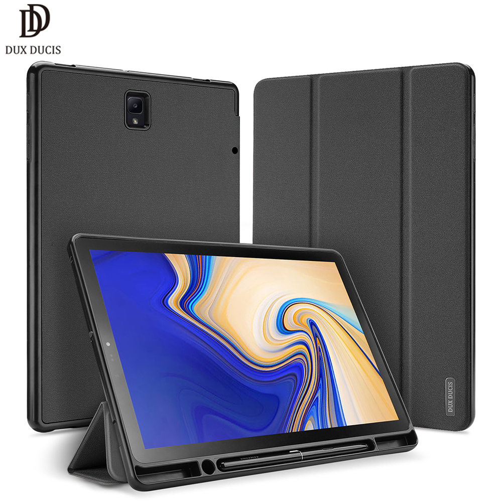 DUX DUCIS PU Flip Case For Samsung Galaxy TAB S4 10 5 Smart Case For Samsung