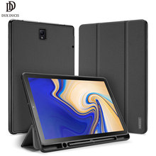 DUX DUCIS PU Flip Case For Samsung Galaxy TAB S4 10.5 Smart Case For Samsung TAB S4 10.5 2018 T830 T835 Cover with Pen Holder(China)
