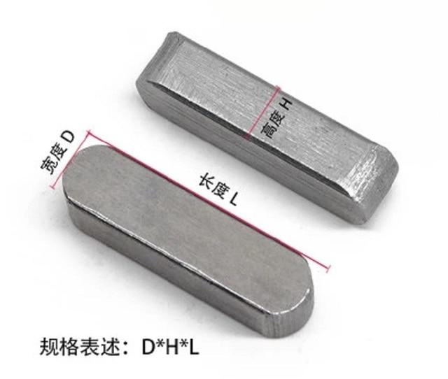 100 piezas 3*3*16mm 304 Acero inoxidable cuadrado sólido recto retención pasadores sujetar elementos