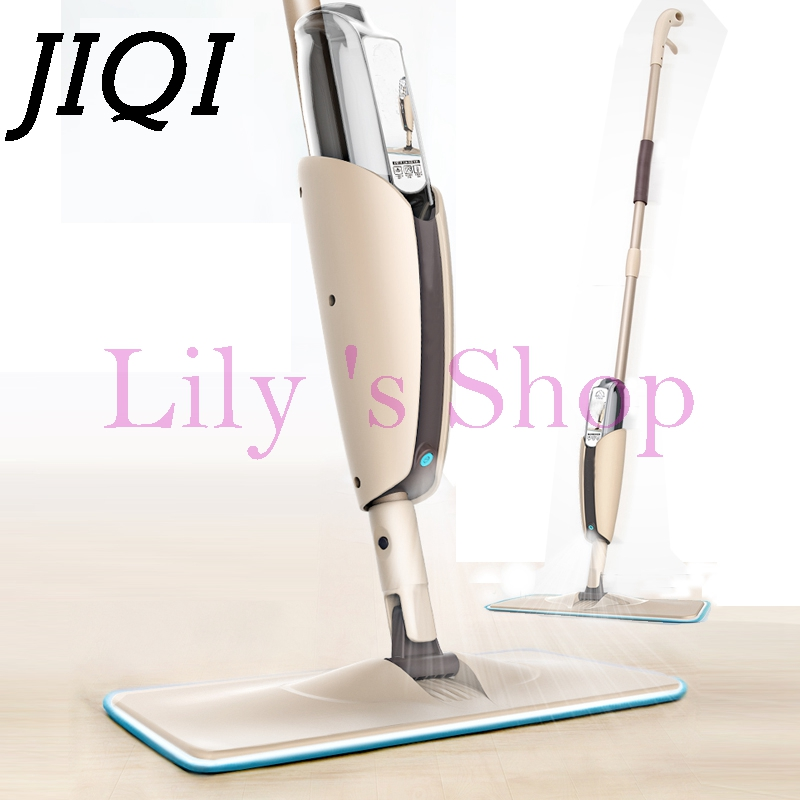 JIQI Multifunction water Spray Mop handle push steam cleaner Household sprayer 360 degree Rotating flat mops Floor Cleaning Tool