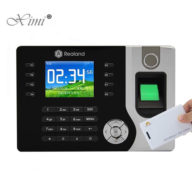 P2P Cloud Service Fingerprint Time Attendance With 125KHZ RFID Card Reader TCP/IP USB Fingerprint Time Clock Realand A-C071