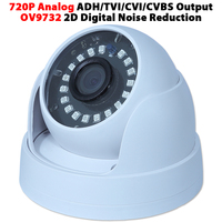 Home Security 720P AHD TVI CVI CVBS 4 In 1 Output Video Camera Plastic Dome Indoor