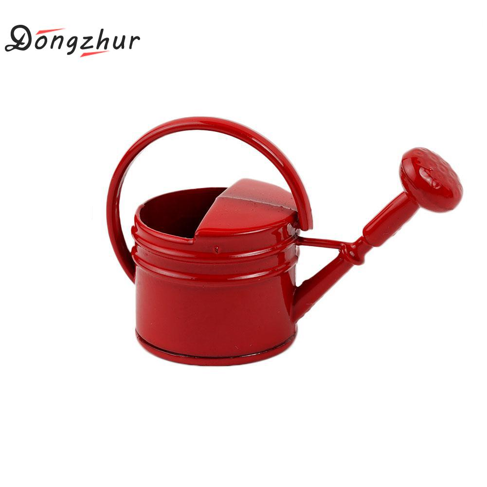 Dongzhur 1 Pcs round handle Garden Watering Can 1:12 Dollhouse Accessorie Alloy 2 Colors Mini round handle Garden Watering Can specials can be wooden handle steel handle felling firewood cut bamboo garden pruning sickle contempt shinai