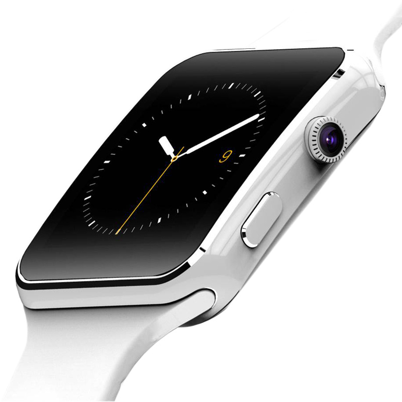 Camera, Android, Silicone, White, Wristwatch, Color