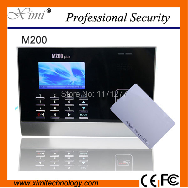 цена на Linux system rfid card reader high color screen TCP/IP 30000 user M200 office time clock employee attendance device
