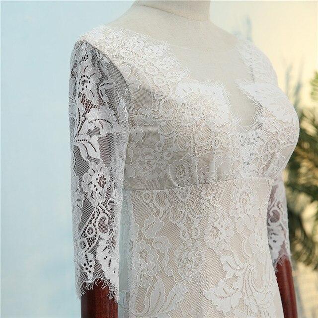 2019 Vintage mariée Boho dentelle robe pour la fête de mariage plage robes de mariée vestidos de noiva Robe de mariage robe de Mariee 3