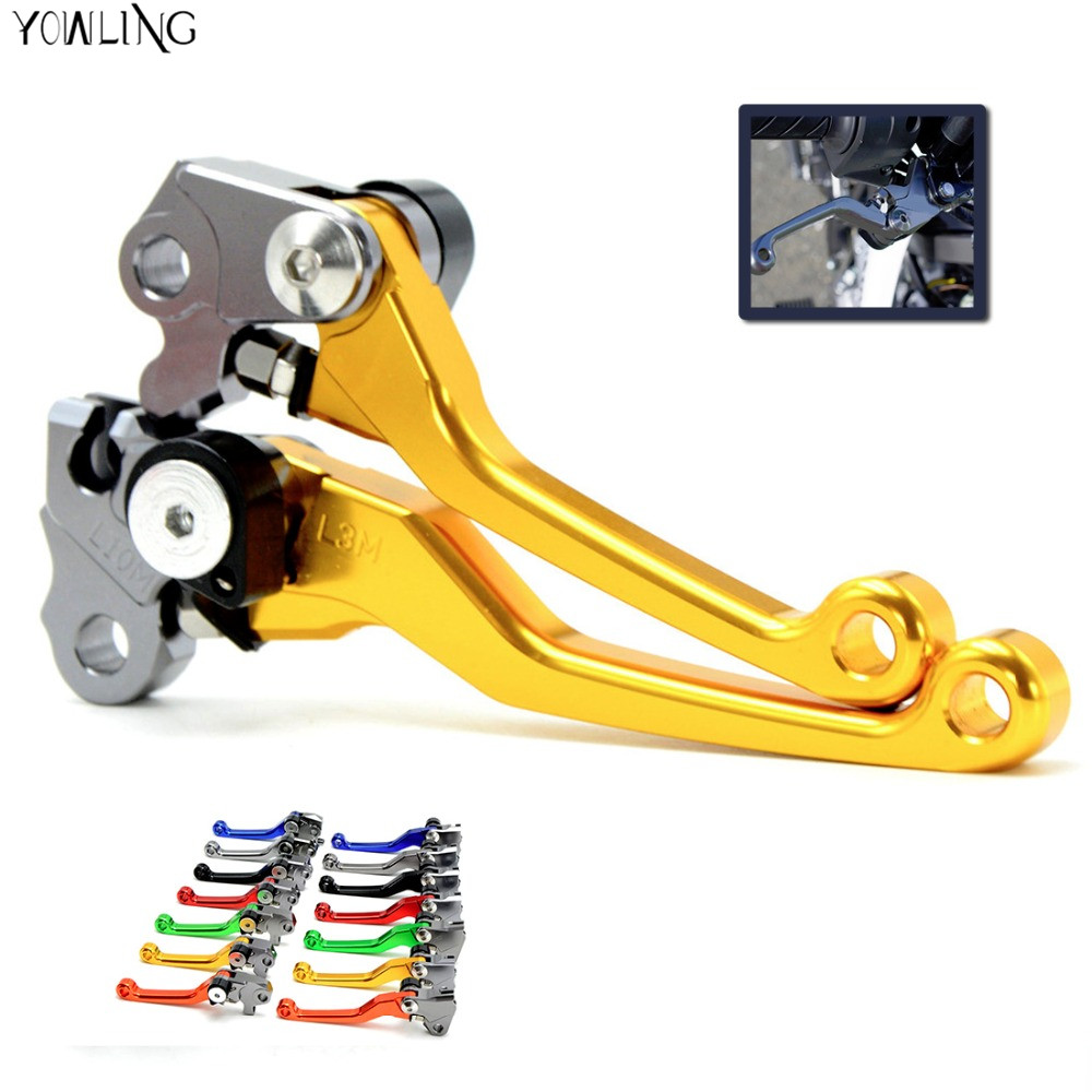 Pivot Dirt Bike Brake Clutch Levers For Honda CRF 250/450 R CRF250X CRF KTM EXC EXC-R XC XC-W XC-F SX 300 505 400 450 530 for ktm 250 sx 144sx 125exc sx 250sx f 200xc w exc 520 sx exc 505 sx f motocross cnc pivot racing dirt bike clutch brake levers