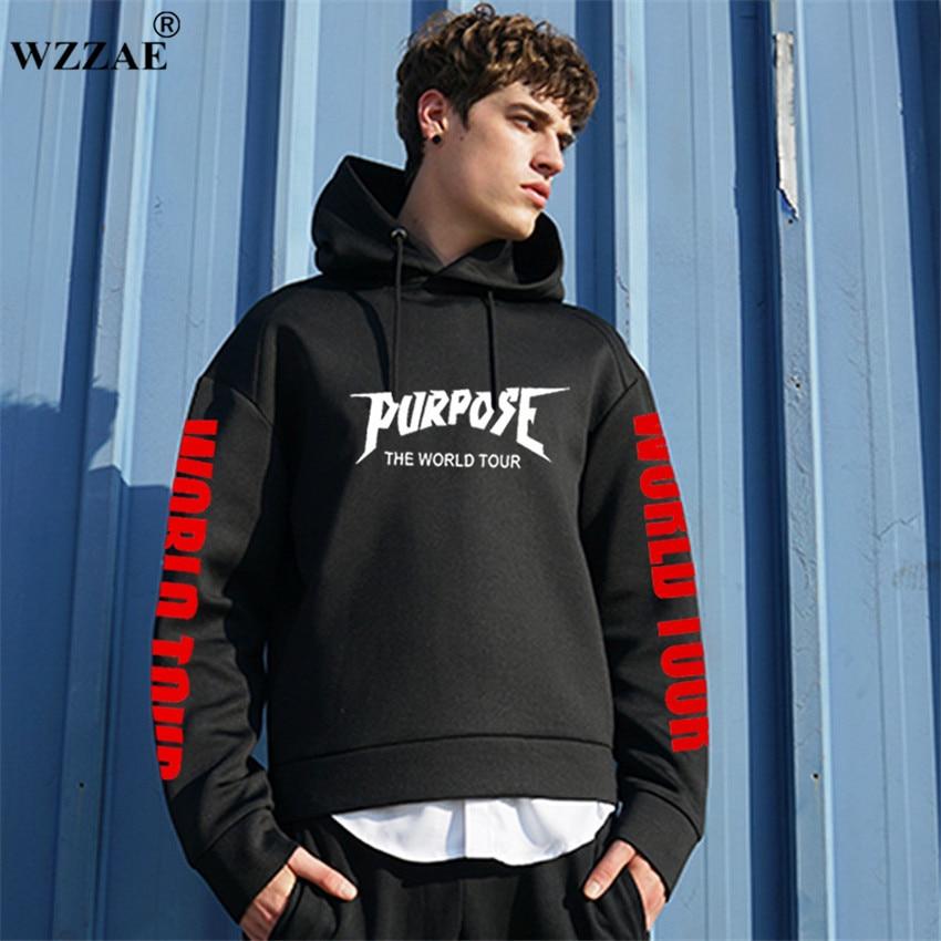 2018 Purpose Tour Hoodies Men Justin Bieber Purpose Tour Hop Hop Hoodie Kanye Streetwear Brand Sweatshirts Men Swag Tyga Hoodie hoodie