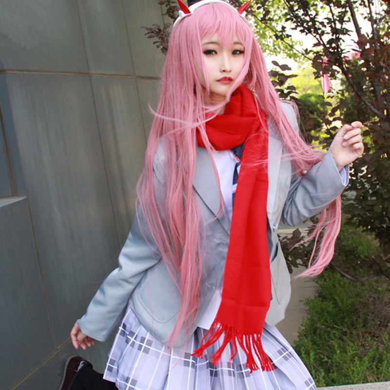Anime DARLING in the FRANXX ZERO TWO School Uniform Dress Outfit Cosplay Costumes in Anime Costumes from Novelty Special Use