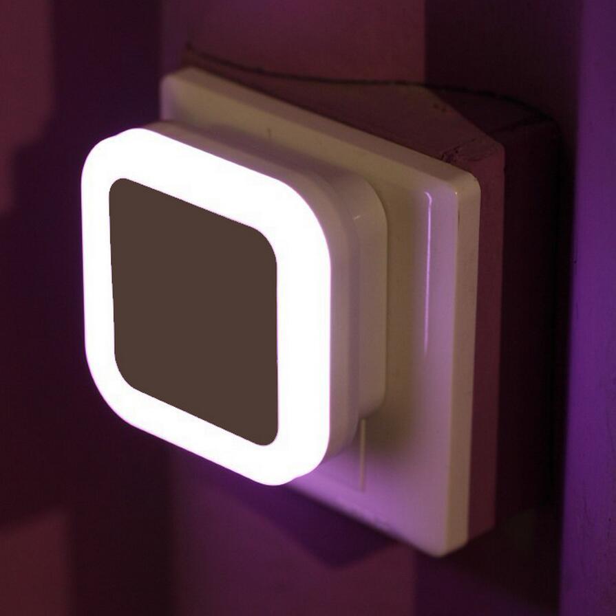 Automatic night lights decorative - Creative Plug Socket Automatic Energy Saving Nightlight Light Sensor Control Led Wall Night Light Indoor Bedroom Decoration Lamp