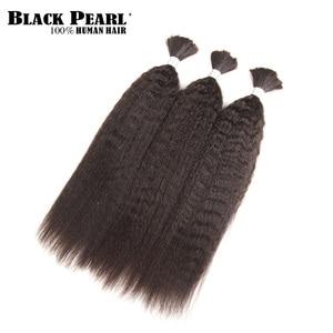 Image 3 - Schwarz Perle Pre Farbige Brasilianische Haarwebart Bundles Yaki Striaght Menschliches Haar Groß 1 Bundle Flechten Haar Extensions Zöpfe haar