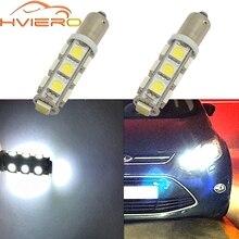 T11 Ba9s T4W 5050 13smd Белый Автомобильный светодиодный габаритный фонарь, светильник для номерного знака, фестон, купольная лампа, дверная лампа, Dc 12 v, парковочный клиновидный светодиодный