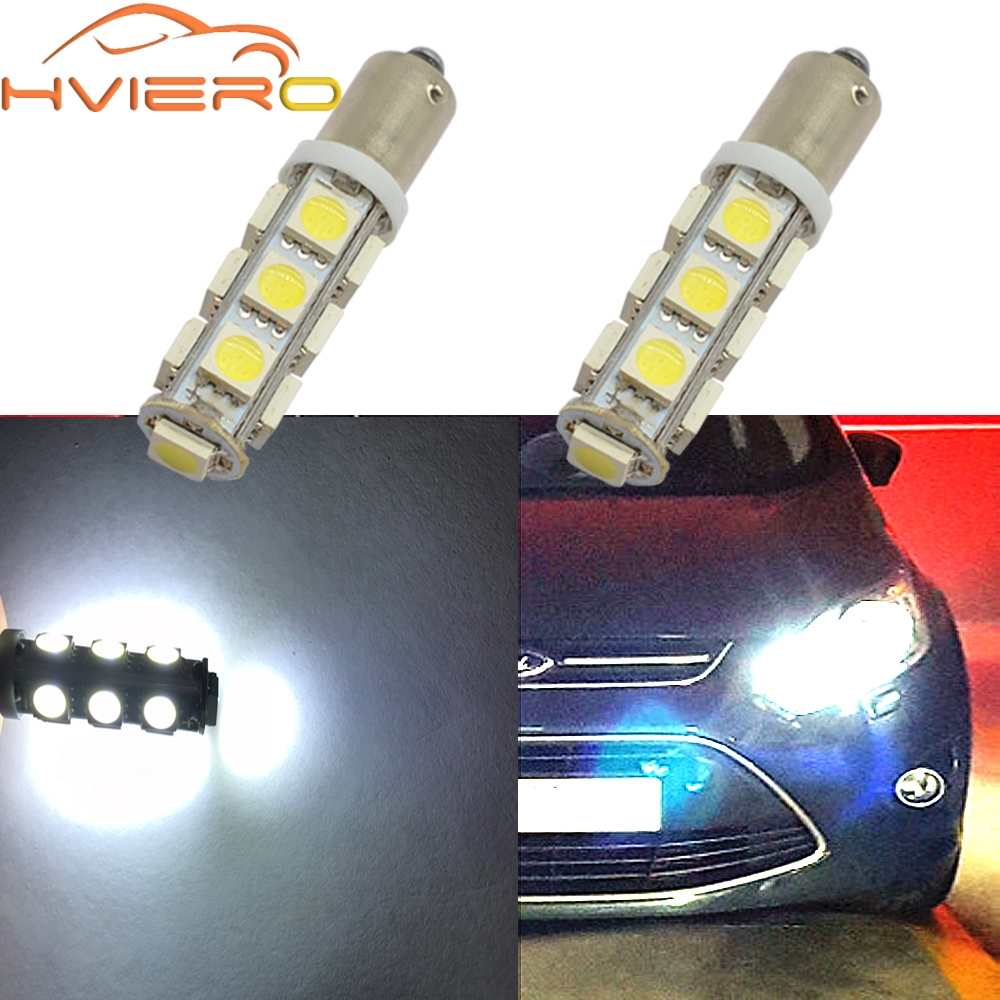T11 Ba9s T4W 5050 13smd White Auto Car Led Marker Lamp License Plate Light Festoon Dome Lamp Door Bulb Dc 12v Parking Wedge LED